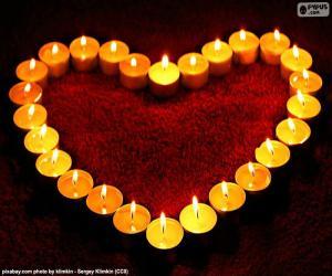 Rompicapo di Cuore delle candele