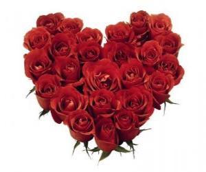 Rompicapo di Cuore di rose rosse