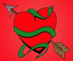 Rompicapo di Cuore di San Valentino, il cuore con la freccia d'amore
