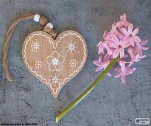 Rompicapo di Cuore e fiore