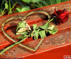 Rompicapo di Cuore e rose