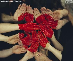 Rompicapo di Cuore in mani