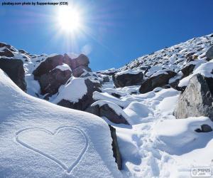 Rompicapo di Cuore nella neve