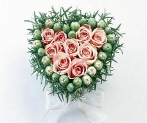 Rompicapo di Cuore pieno di fiori