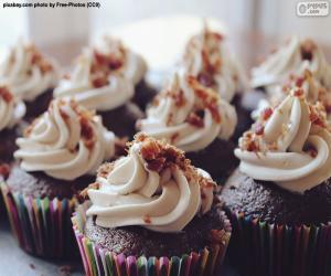 Rompicapo di Cupcakes con glassa