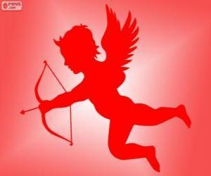Rompicapo di Cupido con arco e freccia