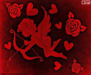 Rompicapo di Cupido, cuori e Rose
