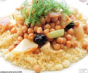 Rompicapo di Cuscus con ceci e verdure