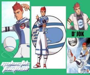 Rompicapo di D'jok è il giocatore protagonista della squadra Snow Kids, ha il numero 9