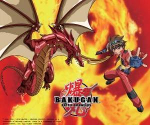 Rompicapo di Dan Kuso e la sua Bakugan Pyrus Drago custode