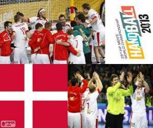 Rompicapo di Danimarca alla medaglia d'argento Coppa del mondo di pallamano 2013