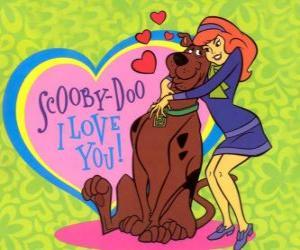 Rompicapo di Daphne abbracciando Scooby Doo
