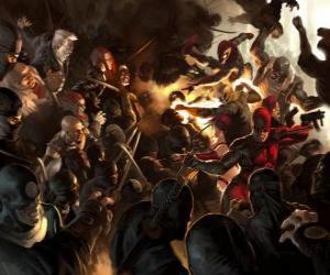Rompicapo di Daredevil, l'uomo senza paura è un supereroe cieco che ha gli altri sensi troppo sviluppato e ha un sesto senso, l'ecolocalizzazione