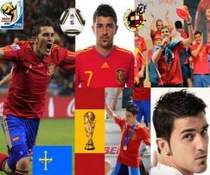 Rompicapo di David Villa (obiettivo della Spagna), attaccante Squadra Nazionale Spagnola