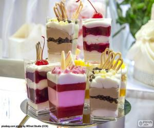 Rompicapo di Dessert in coppa