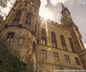 Rompicapo di Dettaglio del Castello di Hohenzollern, Germania