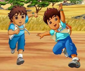 Rompicapo di Diego Marquez, un ragazzo avventuroso che aiuta gli animali in pericolo