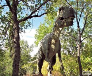 Rompicapo di Dinosauro nella foresta