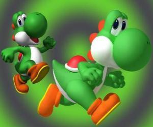 Rompicapo di Dinosauro Yoshi è il miglior amico di Mario
