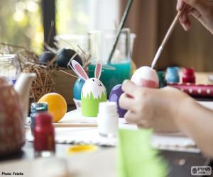Rompicapo di Dipingere le uova di Pasqua