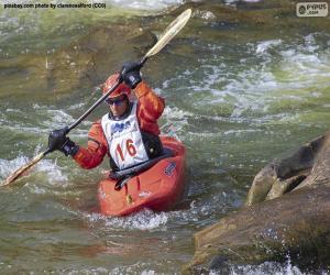Rompicapo di Discesa in canoa in acque bianche