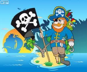 Rompicapo di Disegno del capitano pirata