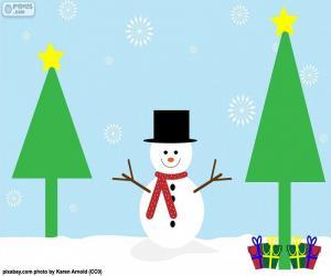 Rompicapo di Disegno del pupazzo di neve