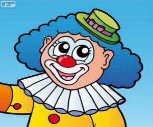 Rompicapo di Disegno della faccia del clown
