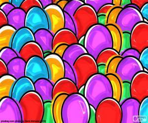 Rompicapo di Disegno delle uova di Pasqua
