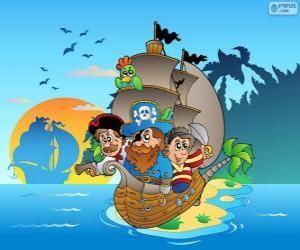 Rompicapo di Disegno di nave pirata