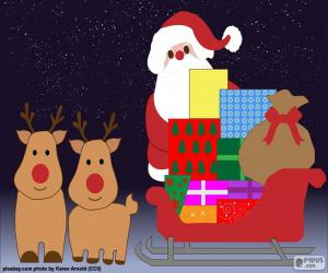 Rompicapo di Disegno slitta di Babbo Natale