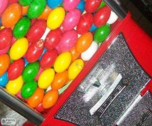Rompicapo di Distributore automatico o macchina vending de palla di gomma da masticare