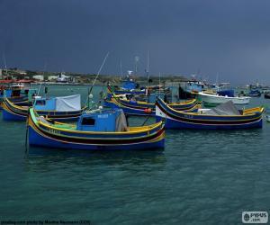Rompicapo di Diverse barche da pesca