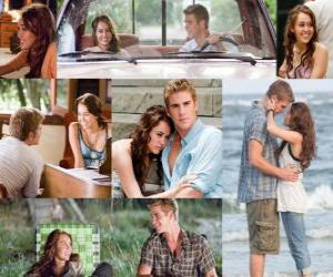 Rompicapo di Diverse foto di Miley Cyrus e Liam Hemsworth nel suo ultimo film, The Last Song.