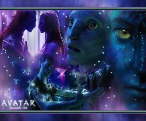 Rompicapo di Diverse immagini di Jake e na'vi avatar Neytiri