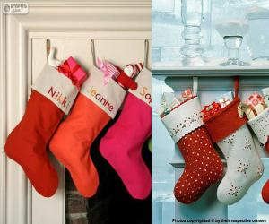 Rompicapo di Diversi appendere calze di Natale pieno di doni