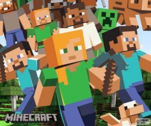 Rompicapo di Diversi personaggi di Minecraft