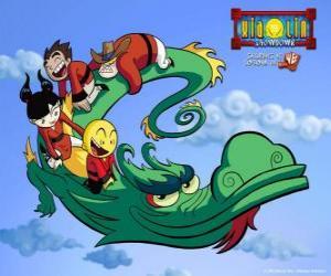 Rompicapo di Dojo Kanojo Cho, il drago dei guerrieri Xiaolin può cambiare la sua forma