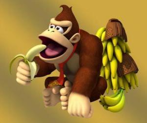 Rompicapo di Donkey Kong, il gorilla famosi di Nintendo