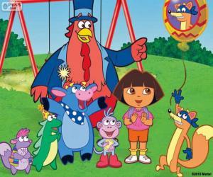 Rompicapo di Dora con alcuni amici