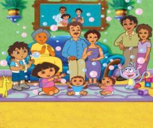 Rompicapo di Dora con la sua famiglia e gli amici