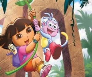 Rompicapo di Dora e Boots in una delle sue avventure