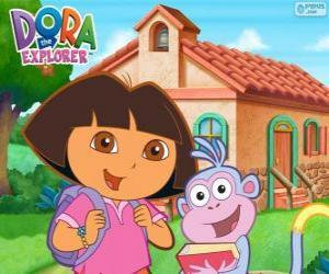 Rompicapo di Dora e Boots vanno a scuola