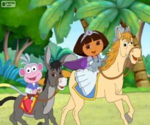 Rompicapo di Dora e la sua scimmia stivali equitazione