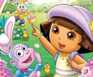 Rompicapo di Dora l'esploratrice a Pasqua
