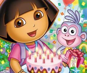 Rompicapo di Dora l'esploratrice celebra il suo anniversario