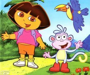 Rompicapo di Dora l'esploratrice e la sua amica scimmia Boots