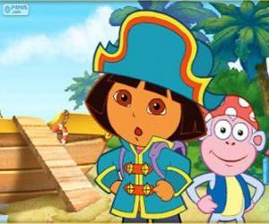 Rompicapo di Dora l'esploratrice, la capitana pirata