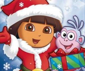 Rompicapo di Dora l'esploratrice vi augura buone feste di Natale