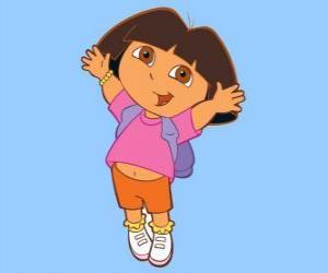 Rompicapo di Dora salti di gioia